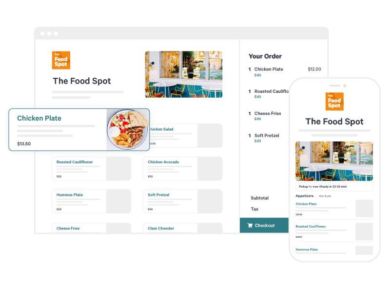 Screenshot of Toast online ordering website