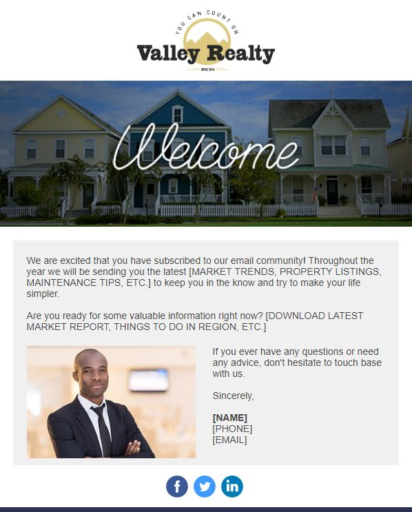 Valley Realty - Introduction Email Campaign Template