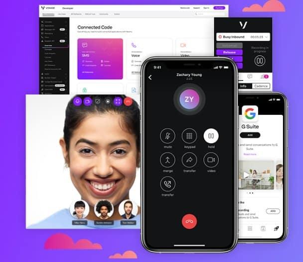 Vonage VoIP phone platform interfaces