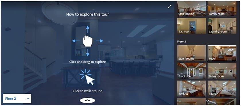 Screenshot of Zillow Premier Agent 3D Homes