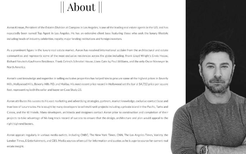 bio of Aaron Kirman