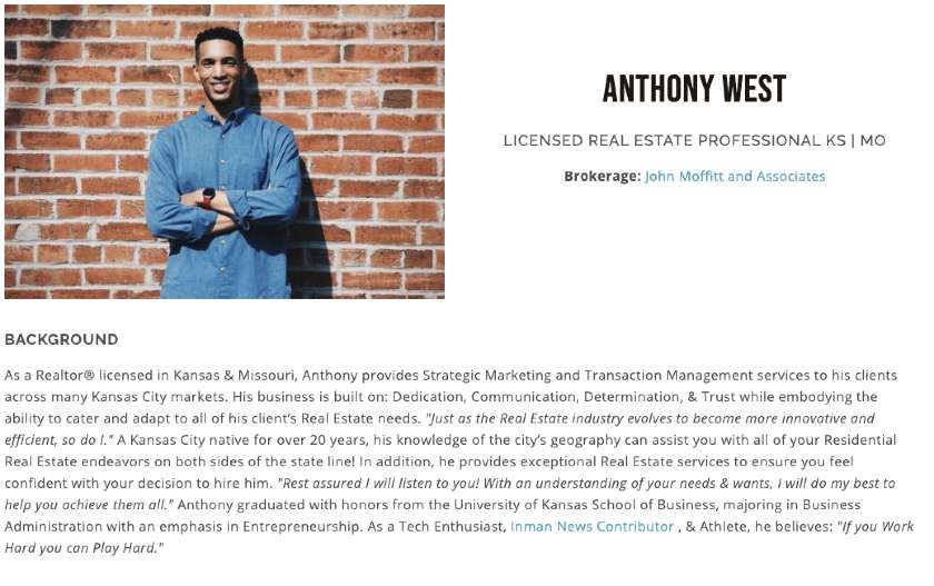 bio of Anthony West