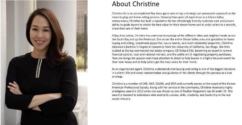 bio of Christine Ko