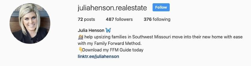 bio of Julia Henson with cta