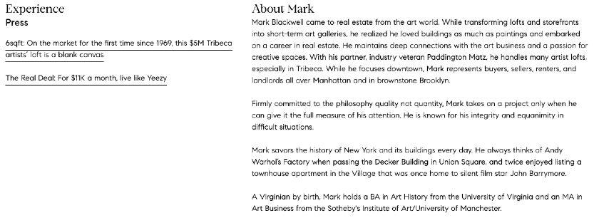 bio of Mark Blackwell