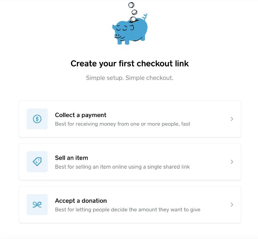 Screenshot of Creating Checkout Link