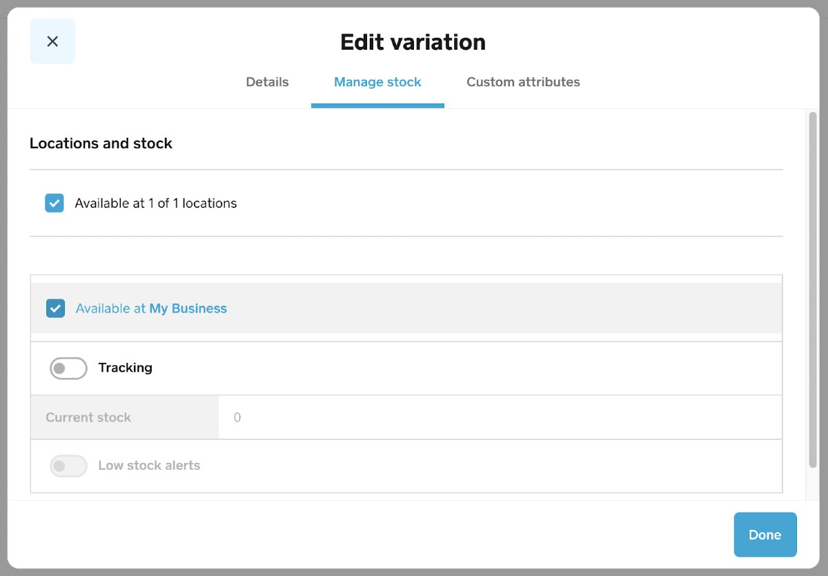 Screenshot of Editing Variation