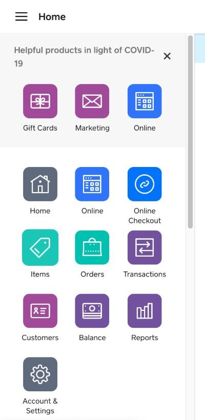 Screenshot of Items On Main Dashboard