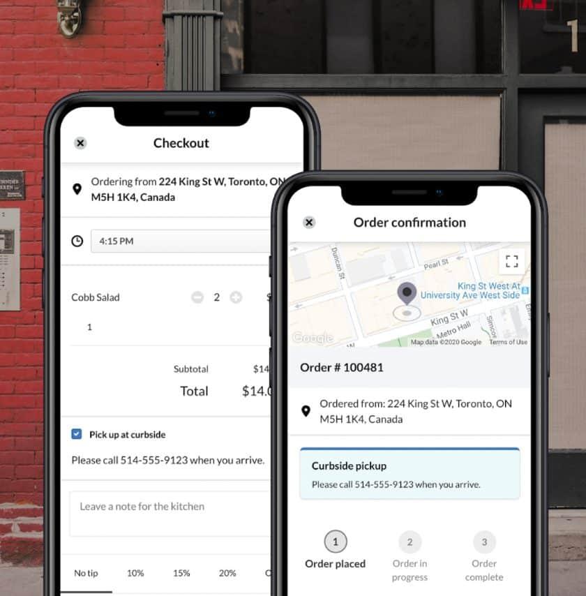 Screenshot of Lightspeed Restaurant's Checkout on Mobile