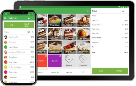 Screenshot of Loyverse Running on iPads and Android Tablets