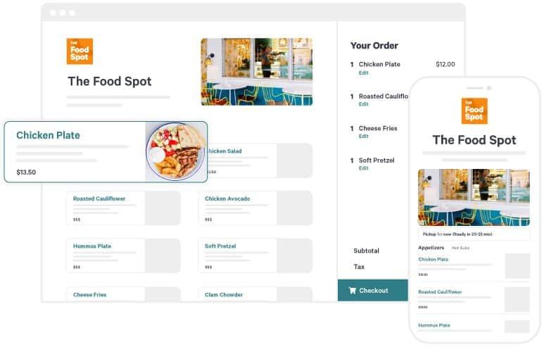 Screenshot of Toast's Online Ordering Module