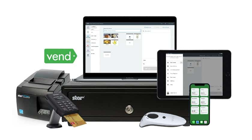 Screenshot of Vend POS Working on Most iOS iMac and PC Devices