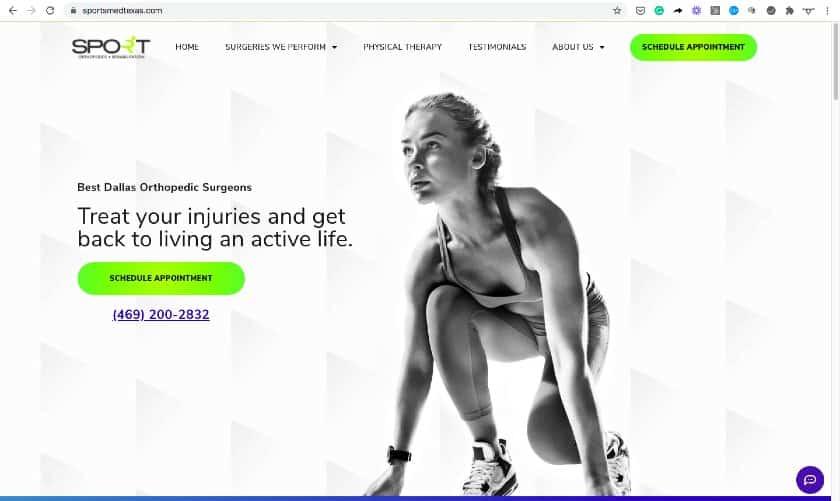 sportmedtexas Website