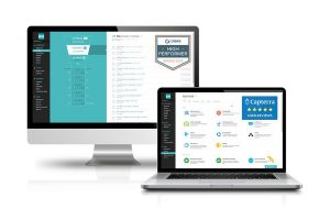 Real estate broker software on desktop and laptop