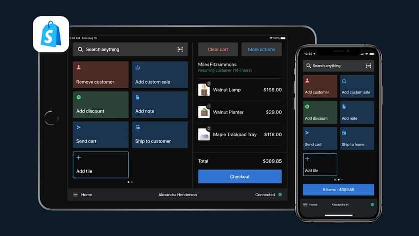 Screenshot of Shopify feature