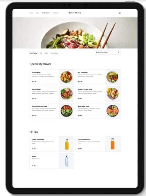 Screenshot of Square Online Store