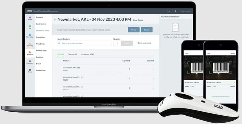 Screenshot of Vend perform inventory and scanner app