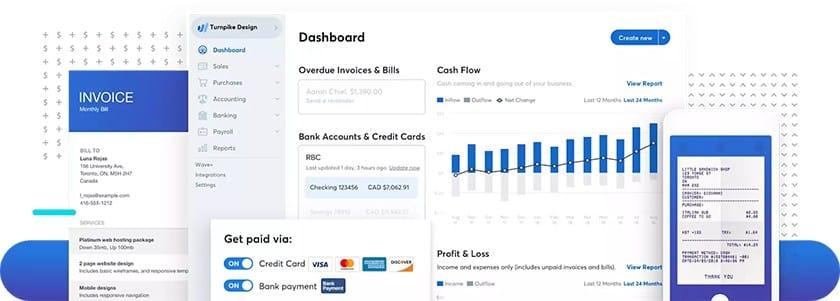 Screenshot of Wave Payroll dashboard