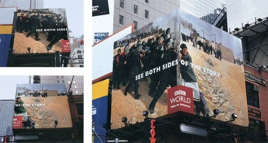 BBC Billboard with Different Perspectives