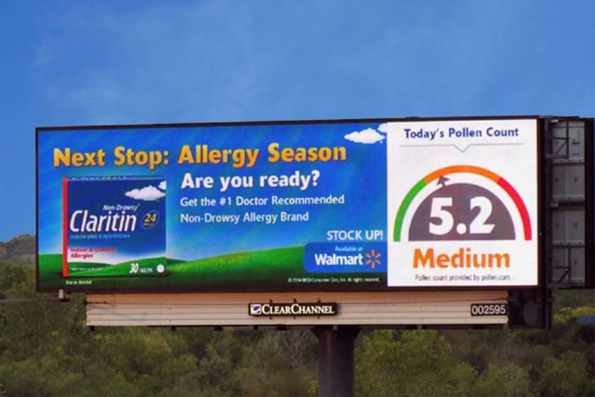 Claritin live data feed Billboard