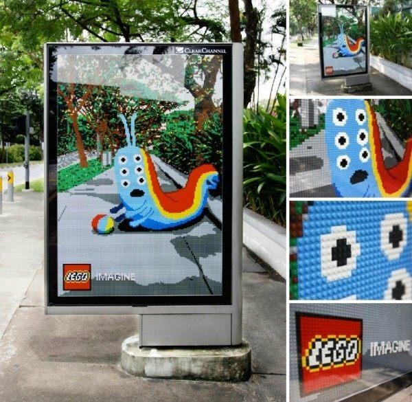 Lego Billboard in Pedestrians