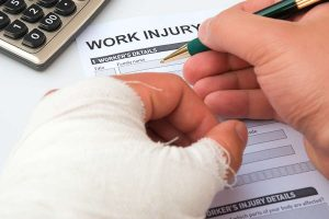 filling out work injury form