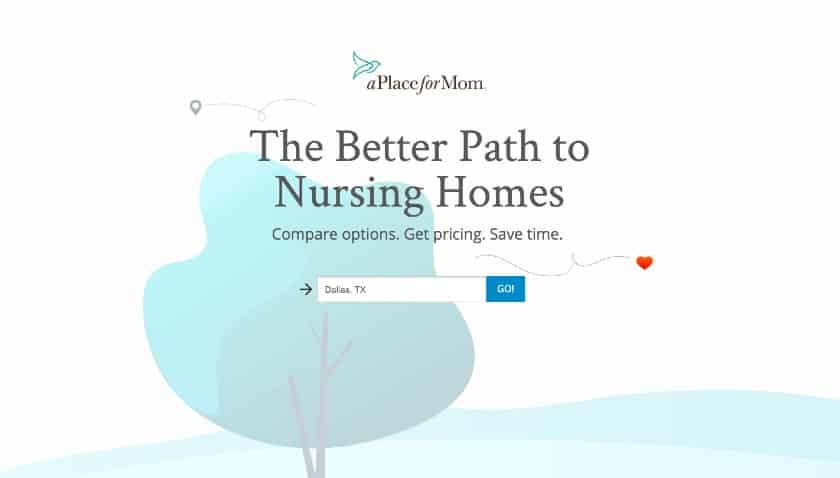 A Place for Mom Landing Page
