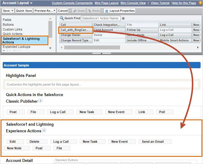 Account Layout Call with RingCentral