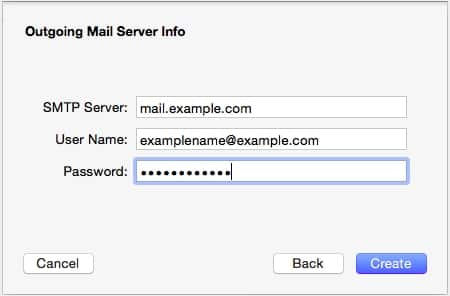 Apple - Outgoing Mail Server Info