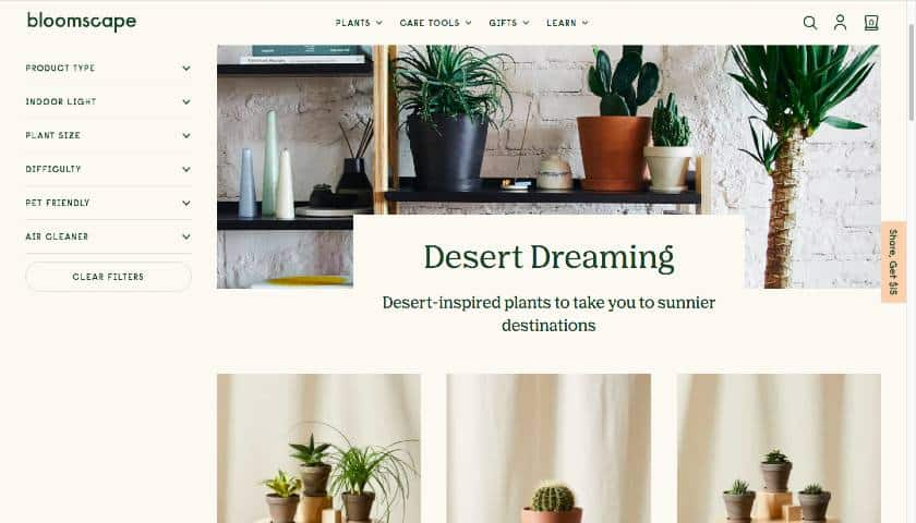 Bloomscape Landing Page