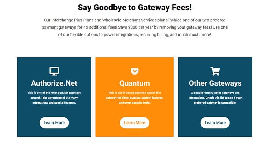 Screenshot of CDGcommerce payment gateways