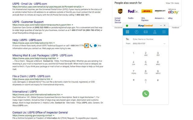 Click-to-Dial Within Google Workplace Applications