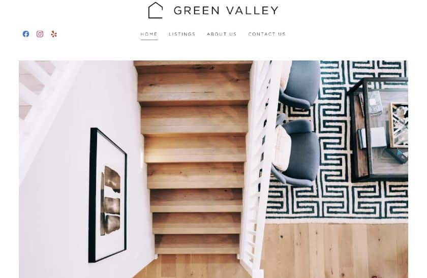 Green Valley Example of GoDaddy website template
