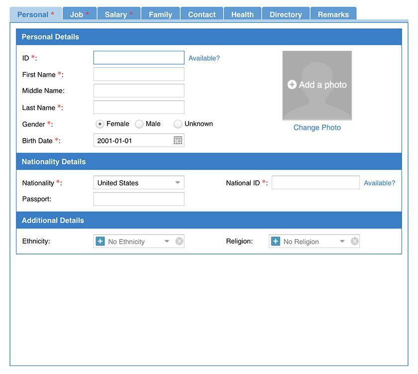 Screenshot of HR.my adding new employees
