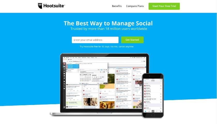 Hootsuite Landing Page