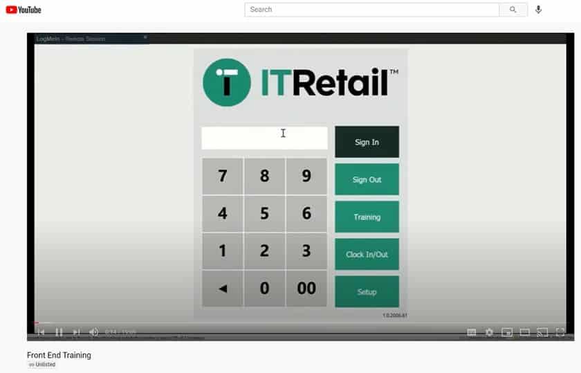 Screenshot IT Retail youtube training video