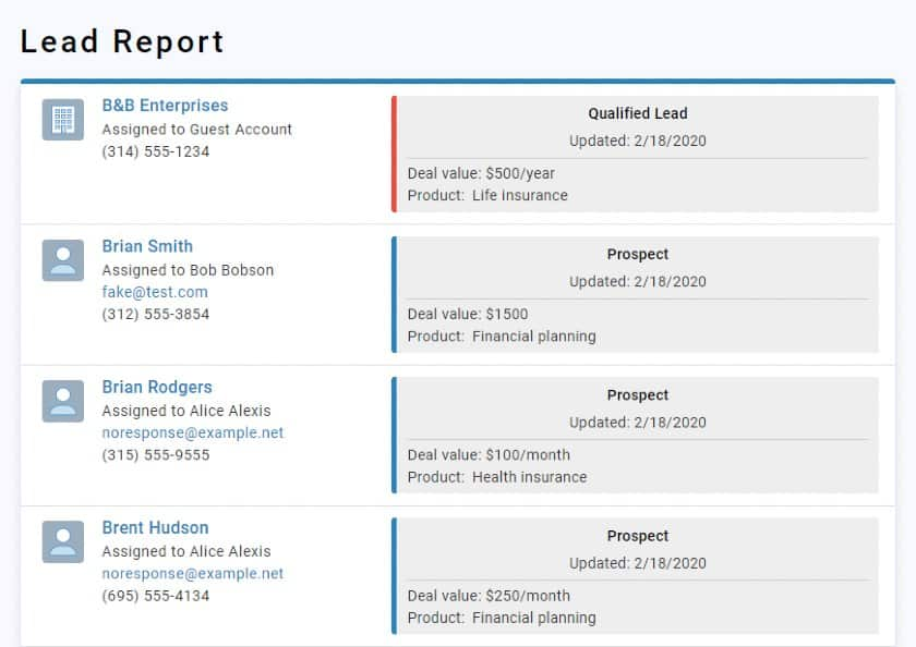 Less Annoying CRM lead report