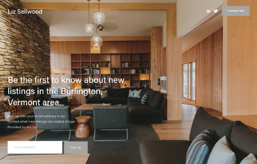 Liz Sellwood - Example website template from Squarespace