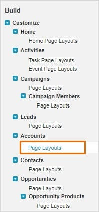Page Layouts option