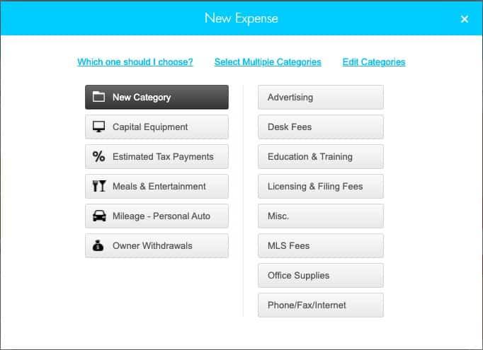 Screenshot of Realtyzam Adding New Expense