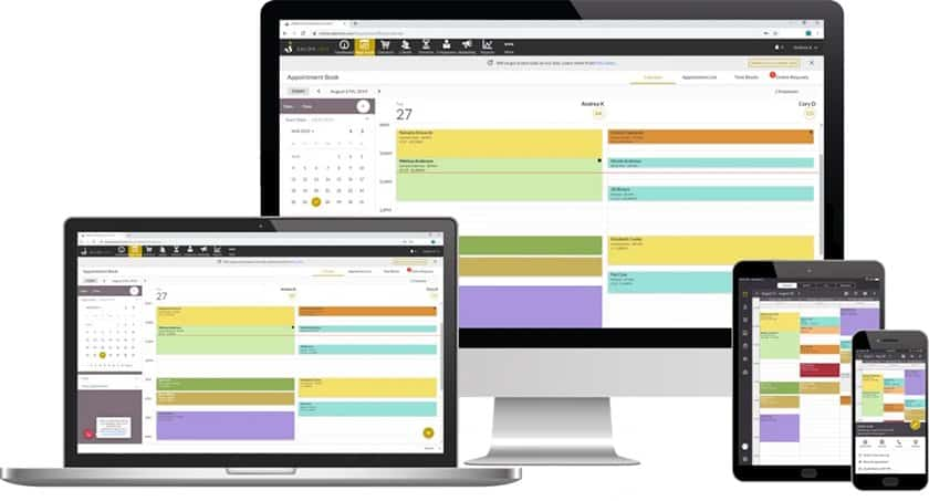 Screenshot of Salon Iris booking system