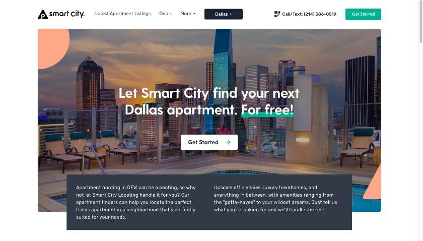 Smart City Landing Page