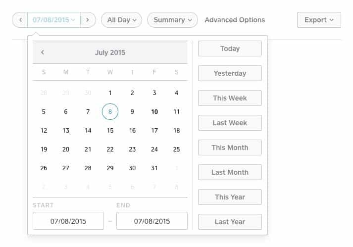 Screenshot of Square Appointments Reporting Tools