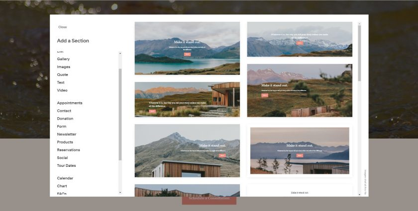 Squarespace Website Template Designs