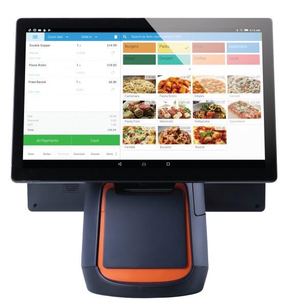 Screenshot of eHopper Pax S300 payment terminal