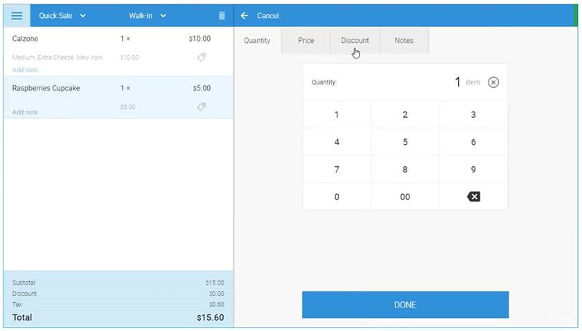 Screenshot of eHopper Quick Sale dashboard