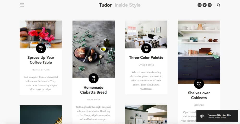 Screenshot of Squarespace Standout Features