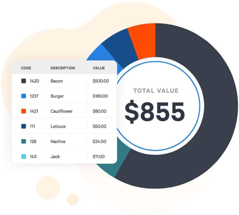 Screenshot of Toast Inventory Value Report