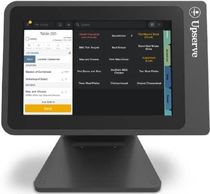 Screenshot of Upserve Register Navigation
