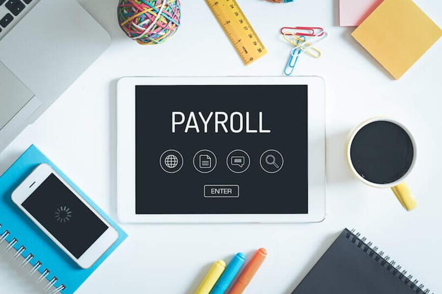 using payroll on a tablet